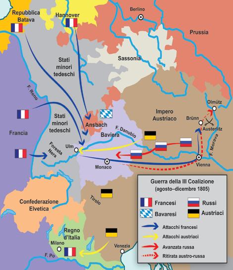 Austerlitz 1805 for Cortile della campagna francese